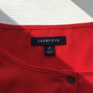 Lands' End Tops - Lands' End Orange Red Bright Silky Blouse 2